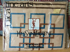 Vintage Utica Fine Arts Yves Saint Laurent Boxes Full Fitted Sheet New Ysl 1976