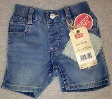 Levi's Boys Knit Pull-On Shorts Denim Blue Size 12 Months
