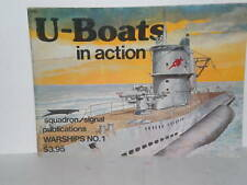 BOOK WW2 Squadron Warships #1 U Boats in Action by R C Stern 1977 1st Editon op