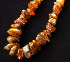 Amber necklace Baltic dark Honey color