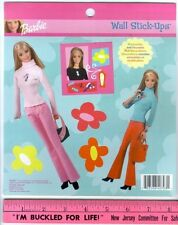 BARBIE DOLLS wall stickers 6 decals room decor flowers fashion girl Mattel toy
