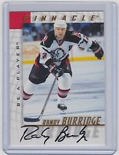 1997-98 BE A PLAYER RANDY BURRIDGE AUTO BAP PINNACLE 79 SABRES