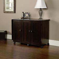 New Sauder Sewing Craft Storage Cabinet Cart Table, Cinnamon Cherry Finish