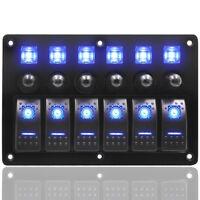 12V/24V 6 Gang LED Schaltpanel Schalter Kippschalter Schalttafel Für Auto Boot