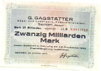 20 Billion Mark Germany Y-Serie Friedrich Nietzsche 2019 Polymer