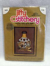 NEW Jiffy Stitchery Indian Vase With Bird Embroidery Kit 290 Vtg 1976