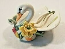 Fitz & Floyd Classics Tulip Swan Serving Bowl with 2 Ladles Mint