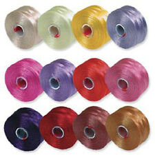 Beadsmith S-Lon Beads Cord 12 SPOOLS / 78 YARDS EACH For Jewelry Designer
