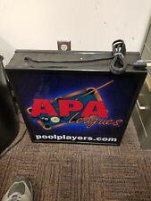 Apa Pool League Lighted Sign 18 x 18 advertising bar
