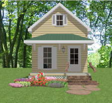 Affordable Tiny Home Plans 1 bed Cottage 720 sf PDF only Construction Drawings