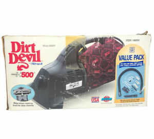 Royal Dirt Devil Hand Vac Vacuum Model 500WC with Extras Hoses, Fittings, etc.