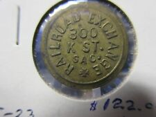 K-500 Sacramento California /Railroad Exchange Token  GF 05  Token  Brass  21mm