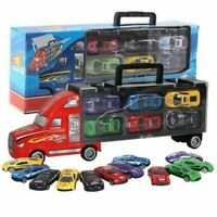 Toy Cars Transport Car Carrier Semi Truck +6 little Cars Kids Birthday Xmas Gift