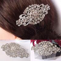 Mariage mariée fleur strass cristal diamante perles pince à cheveux peigne