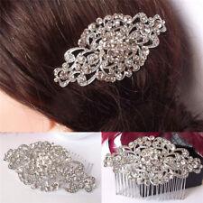 1x Vintage Wedding Crystal Hair Comb Bridal Tiara Bride Hair Piece Accessories ~