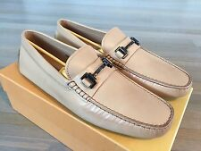 595$ Tod's Morcetto Metallo Leather Gommino Drivers Size US 12 Made In Italy