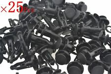 25 x Car Door Fender Clips 9mm Black Plastic Rivets Fastener for Toyota
