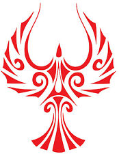 This is a phoenix bird glossy red vinly cut sticker or decal.