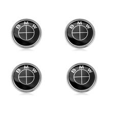 4x All Black Wheel Center Caps Hub Emblem Badge Cover 68MM For BMW 36136783536