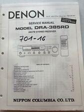 DRA-385RD DENON original Service Manual Schaltbid,