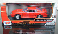 FORD SVT COBRA 1998 1:24 Scale Diecast Toy Car Model Die Cast Red