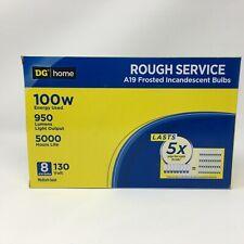 100 Watt 950 Lumens Incandescent A19 Light Bulbs Rough Service - 8 Bulbs