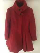 Girls Red Coat From Next Age 9 - 10yrs