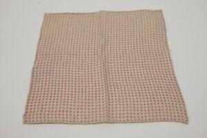 NWT Brunello Cucinelli Men's Linen-Cotton Dotted Print Pocket Square  A196