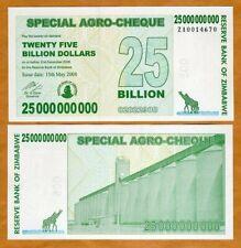 Zimbabwe, 25 billion, 2008, P-62, UNC, scarce ZA replacement