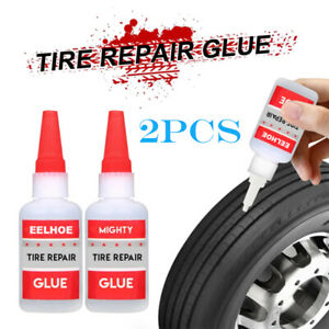 2pcs 50ml Universal Car Bicyle Mighty Tire Repair Glue Puncture Sealant Shoes