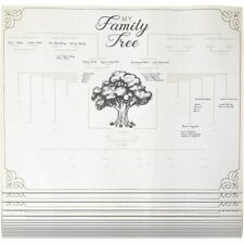Blank Genealogy Chart, My Family Tree (17 x 22 Inches, 15 Pack)
