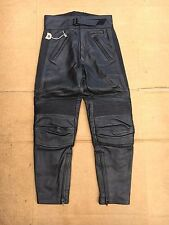 "FRANK THOMAS Mens Leather Motorbike / Motorcycle Trousers UK 28"" Waist (#137)"
