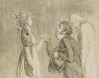 CHODOWIECKI (1726-1801). Karikatur der Höflichkeit; Druckgraphik 1
