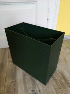 Schallplattenständer 70er jahre LP Boxen Design 70er, Grün