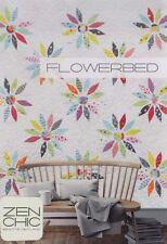 Flowerbed -  fabulous modern applique & pieced quilt PATTERN - Zen Chic