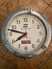 "Art Deco Crouse Hinds Explosion Proof Wall Clock Large 17.5"" Cast Aluminum"