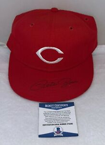Pete Rose signed Cincinnati Reds Fitted New Era Hat Cap autographed BAS Beckett