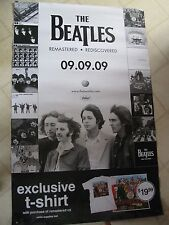 BEATLES LARGE 2-SIDED 'REMASTERS' SERIES CATALOG PROMOTIONAL POSTER NEW/UNCRCLTD