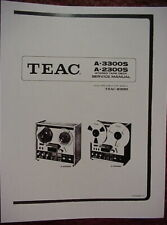 TEAC A-2300, A-2300S & A-3300S TAPE DECK SERVICE MANUAL 81 Pages