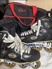 MISSION Proto V Accelerator Roller Hockey Skates Mens 13D Leather Rollerblades