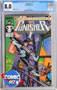 PUNISHER #1 (1987) 1ST PRINTING MARVEL MODERN AGE CGC VFN 8.0