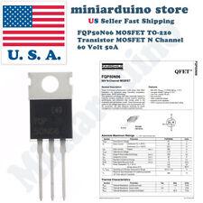 5pcs FQP50N06 Transistor Power MOSFET N Channel 60V 50A 50N06 Fairchild NEW USA