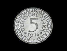 BRD. 5 DM, 1974 D, Kursmünze, Silber.! orig.! f/St.!