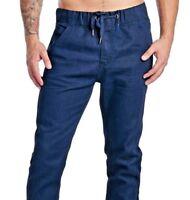 A / Jeans Men's Joggers Pants Denim Jogger Elastic+Drawstring Waistband-HD1506NC