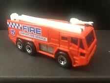 1992 MATCHBOX MB8 AIRPORT FIRE TENDER TRUCK - YELLOW BOX 1/124 DIECAST