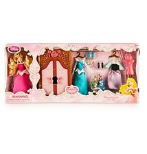 Disney Store Aurora Doll Figure Wardrobe Princess Sleeping Beauty Boxed Set NEW