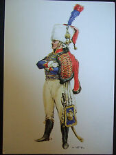 MILITARY POSTCARD-TRUMPETER LIGHT CAVALRY REGIMENT IMPERIAL GUARD 1804