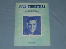 "1958 Elvis ""Blue Christmas"" Sheet Music (Very rare)"