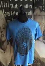 """New Men's GAP T-shirt 100% coton bleu graphique Petite Poitrine 36"""" RRP 29.95 $"""