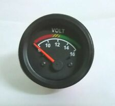 "Voltmeter gauge, 12V 2""/ 52mm with wire harness black"